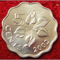 6837:  5 центов 2002 Свазиленд