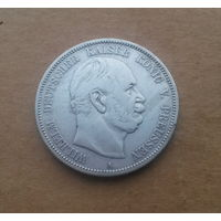 Пруссия (Германская империя), 5 марок 1876 г., Вильгельм I, король/император в 1861/1871-1888 гг., серебро