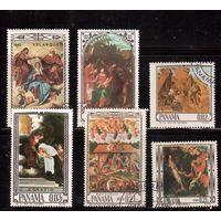 Панама-1966(Мих.917-922) ,  гаш. , Живопись,Религия(полная серия)