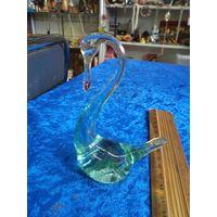 Лебедь, стекло, 10 см.