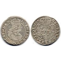 6 грошей (шостак) 1665 AT, Ян II Казимир Ваза, Быдгощ