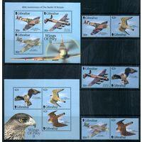 Самолеты и птицы Гибралтар 2000 год серия из 6 марок и 2-х блоков (М)