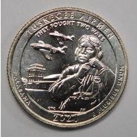 США 25 центов 2021 г 56 парк США Алабама Пилоты Таскиги  двор D UNC Из ролла.