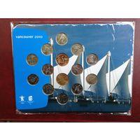 Набор монет Олимпиада Ванкувер 2010 г.