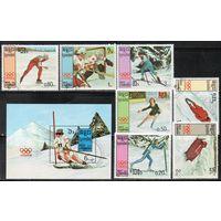 Спорт Кампучия 1987 год серия из 1 блока и 7 марок