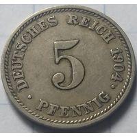 Германия 5 пфеннигов, 1904        D       ( 6-5-3 )