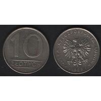 Польша y152.1 10 злотых 1988 год (mw) (h03)