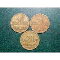 Перу 20 сентимов цена за монету (список)
