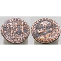 Римская империя, Констанций II в ранге цезаря, нуммий, М.Д. Фессалоника 3-я оффицина