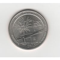 "25 центов (квотер) США ""Нацпамятник Форт Мак-Генри"" 2013 D Лот 4219"
