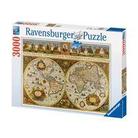 Паззл Карта мира 1665 года 3000 эл.  Ravensburger