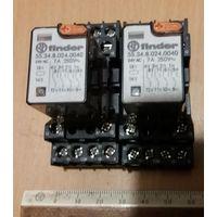 Реле промежуточное Finder 55.34.8.230.0040 7A 250V с колодкой