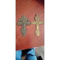 Кресты латунные 19 век. по 100р