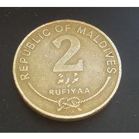 Мальдивы 2 руфии. 2005г. 2