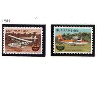 Суринам-1984,(Мих.1080-1081) **  , Авиация, самолеты
