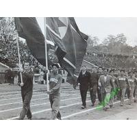 Футбол Динамо Спартак Минск 1957 г  размер 9х14  см
