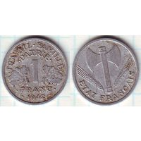Франция 1 франк 1942 (2)
