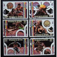 Марки Сенегал, 1976 год. Гашеная.  Спорт олимпиада Монреаль,  серия из 6 марок.  597-602