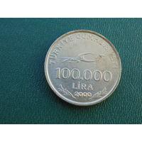 Турция 100000 лир 2000 года  Мустафа Кемаль.