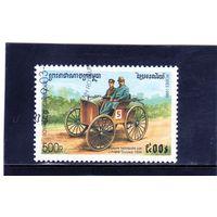 Камбоджа. Ми-1914. Duryea (1895). Серия: Старинные автомобили. 1999.