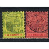 GB Колонии Маврикий 1902 Герб #98,102