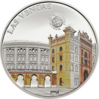 "Палау 5 долларов 2014г. ""Мир Чудес: Арена Лас-Вентас"". Монета в капсуле; сертификат. СЕРЕБРО 20гр."