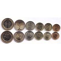Турция 2018-2019-2020 г.г.  набор 6 монет UNC