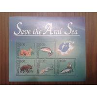 Киргизия 1996 Спасите Аральское море блок