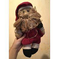 Кукла Дедушка мороз. Солома, ручная работа