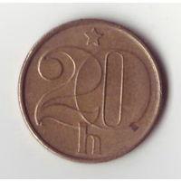 Чехия. 20 геллеров 1986 года.
