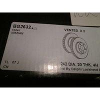 BG2632 DELPHI Тормозной диск передний 2 шт для Nissan Primera P10, W10