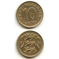 Эстония 10 сентов 1931 г. KM#12