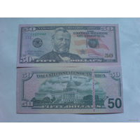 США 50 долларов сувенир пресс.  распродажа