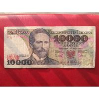 10000 злотых 1988 г.