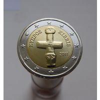 2 евро 2011 Кипр UNC из ролла