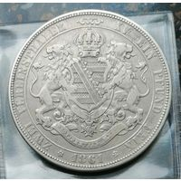 2 талера 1861 года Саксония