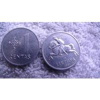 Литва, 1 Centu 1991г. распродажа
