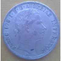 Австрия 1 флорин 1861