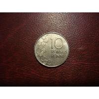 10 пенни 1991 год Финляндия