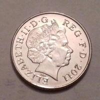 10 пенсов, Великобритания 2011 г.