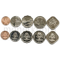 Багамы 5 монет 2005-2016 годов