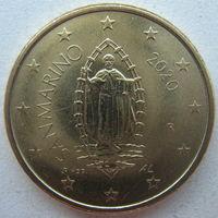 Сан-Марино 50 евроцентов 2020 г.