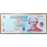 5 песо 2006 года - Аргентина - UNC