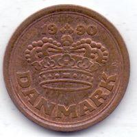 Дания, 25 эре 1990 года.