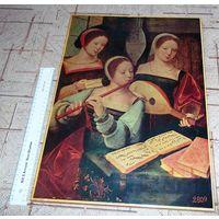 Репродукция картины эпохи Возрождения. 46х32см