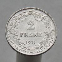 Бельгия 2 франка 1911