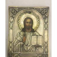 Икона Господь Вседержитель. Оклад серебро. 1874 год.