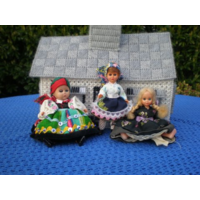Куклы в национальном костюме. 12 см.