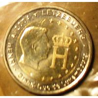 2 евро 2004 Люксембург Анри Нассау UNC из ролла