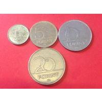Венгрия, 4 разные монетки